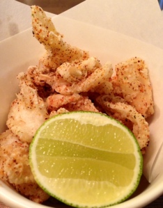 FRIED SQUID with Japanese pepper and lime £6.50